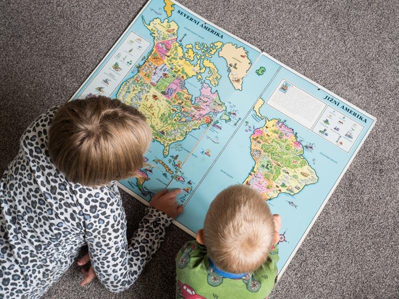 Děti plánují cestu