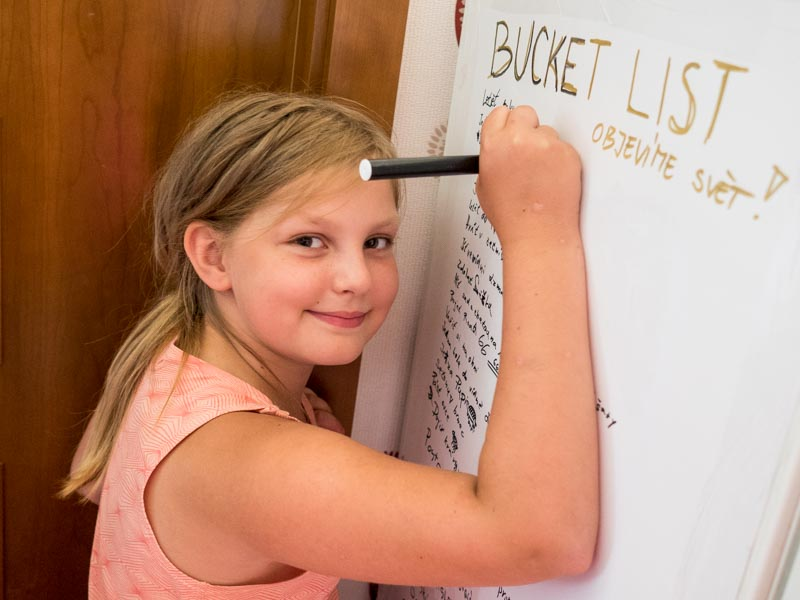 Cestovatelský bucket list