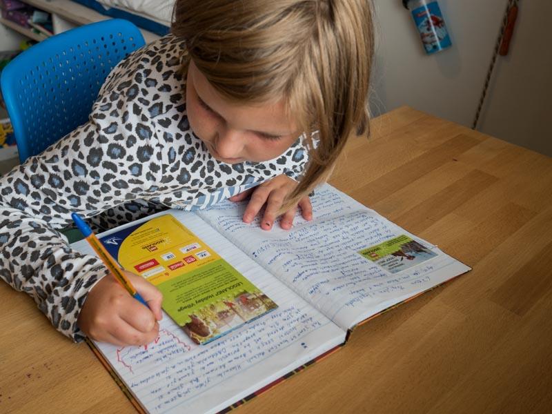 Děti píší prázdninivý deník