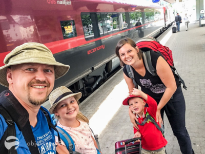 S dětmi vlakem