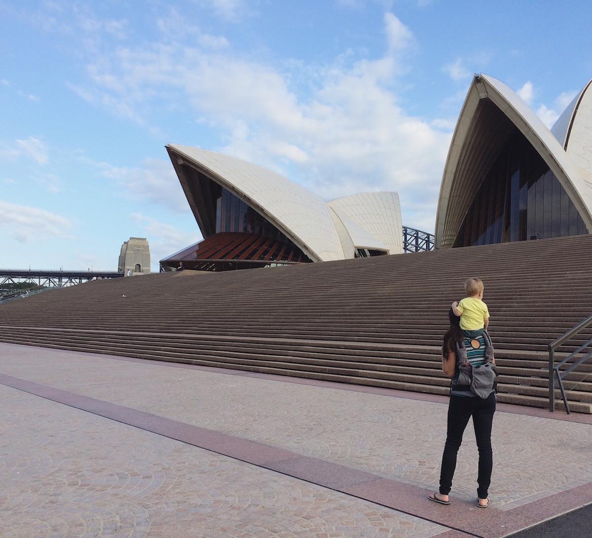 V Austrálii s miminkem.