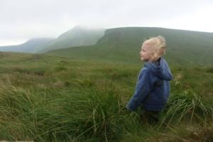 Saša, kluk na horách.