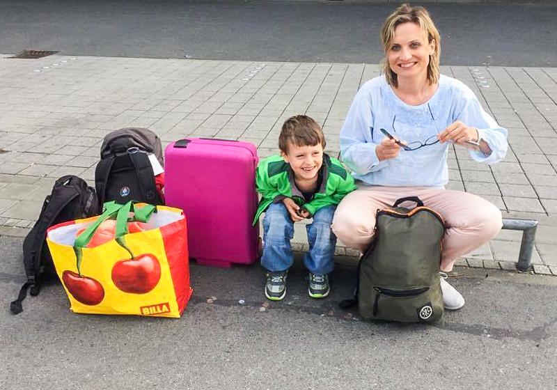 Rodina na cestě na Lanzarote