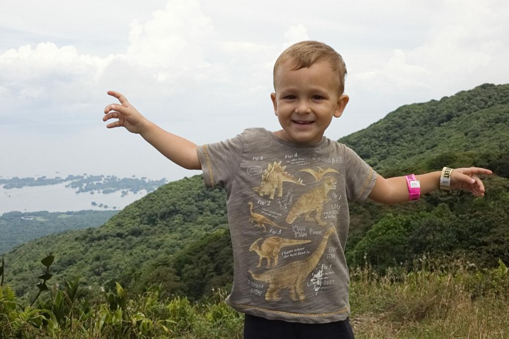 S dítětem v Nikaragui.