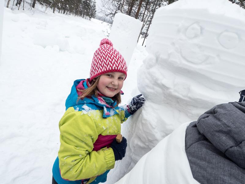 sochy ze sněhu