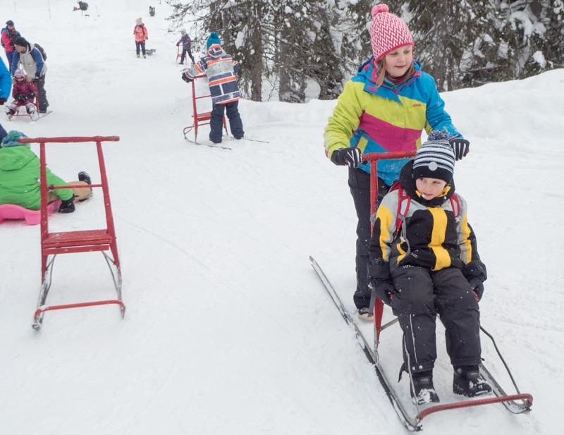 Kick sledging ve Finsku