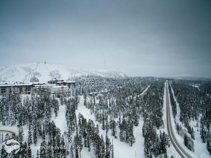 zimní finská krajina
