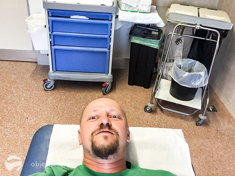 Tak jsem v nemocnici zalehl