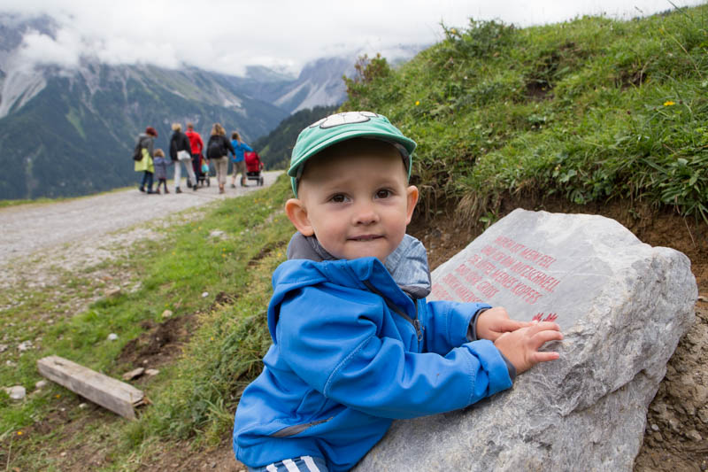 Kluk na Natursprungweg v Rakousku.