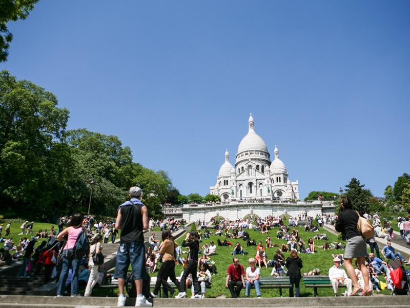 Chrám Sacre Coeur v Paříži