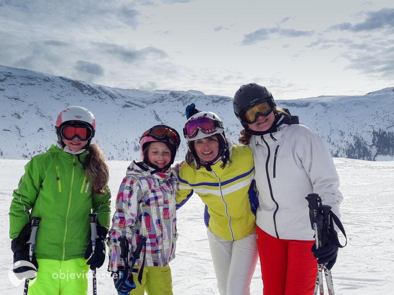 Lyžování v skia reálu Ritterhorn
