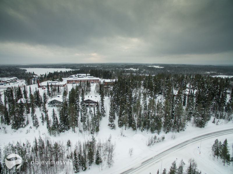 POhled od zimní finské krajiny
