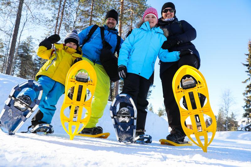 Finsko Oulanaka sněžnice