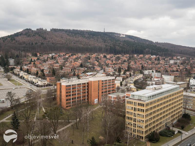 Zlín pohled z mrakodrapu