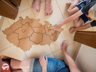 korková mapa moje česko