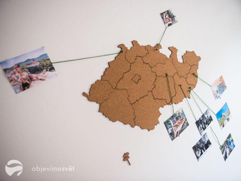 Korková mapa jako dárek pro děti