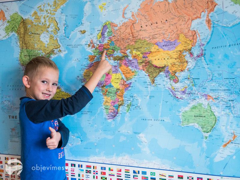Mapa jako dárek pro děti