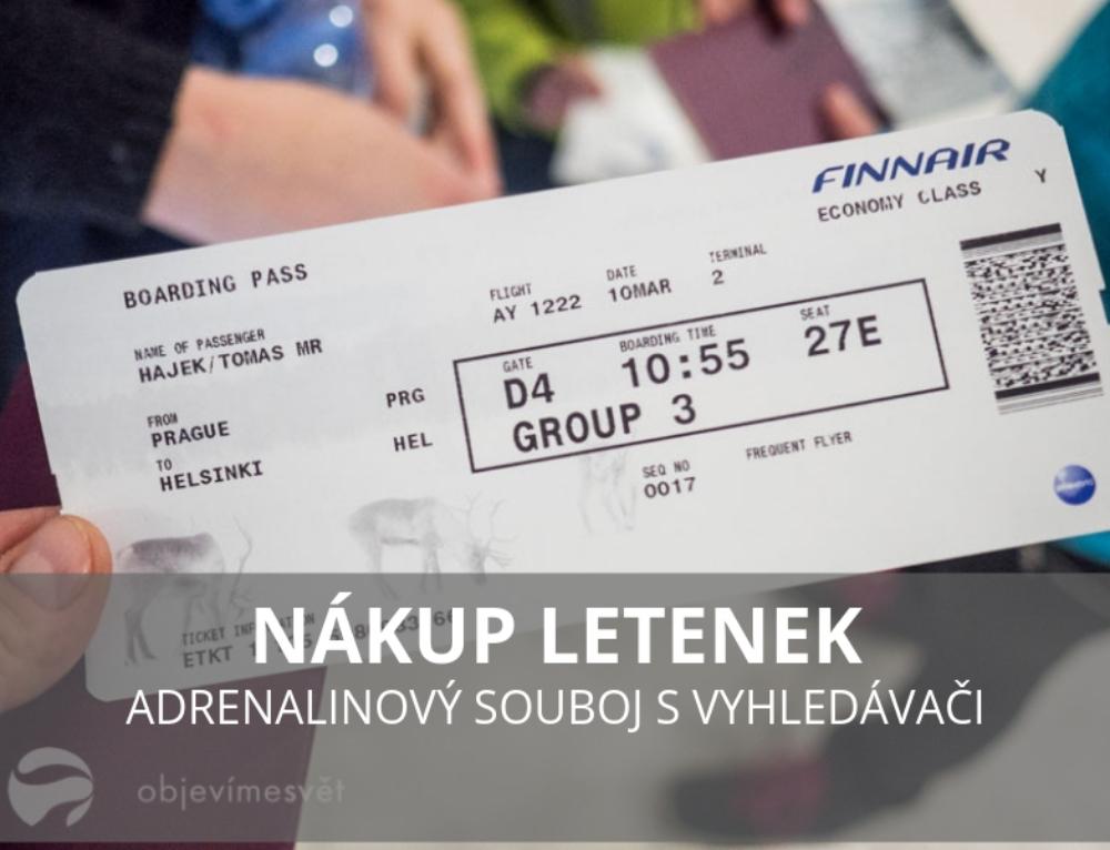 Nákup letenek – adrenalinový souboj s vyhledávači