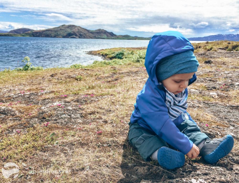 S miminem na Island